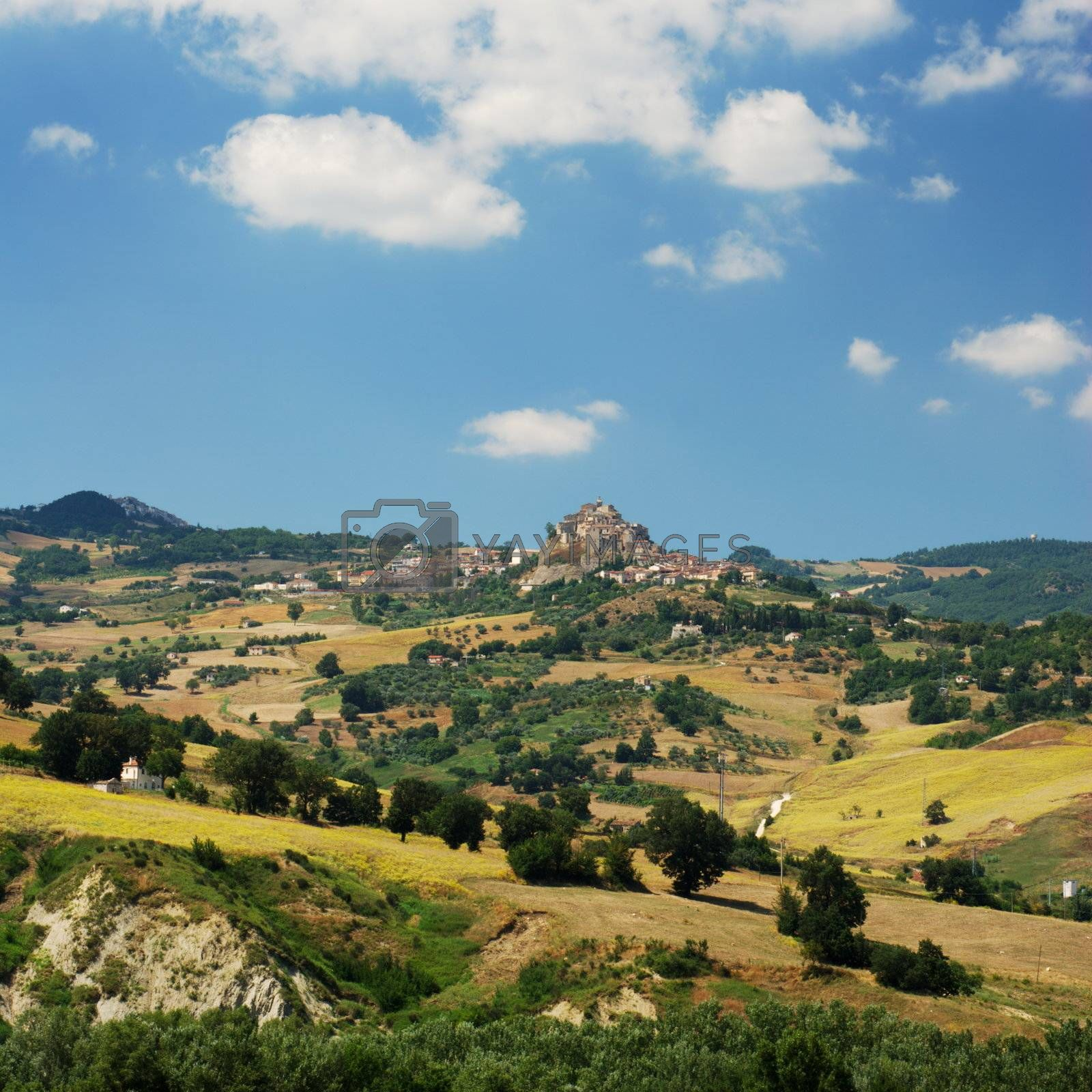 Region Molise in center Italy, the little villages are Ripalimosani and S.Angelo Limosano