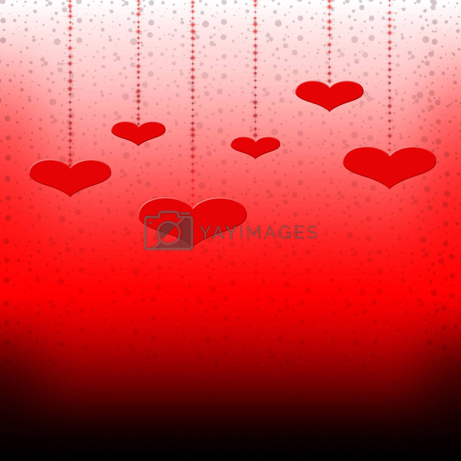 Valentines Day background with Hearts for valentines day
