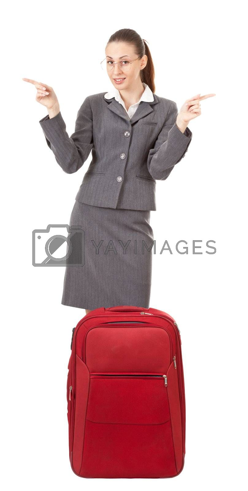 office manager, a girl in business attire