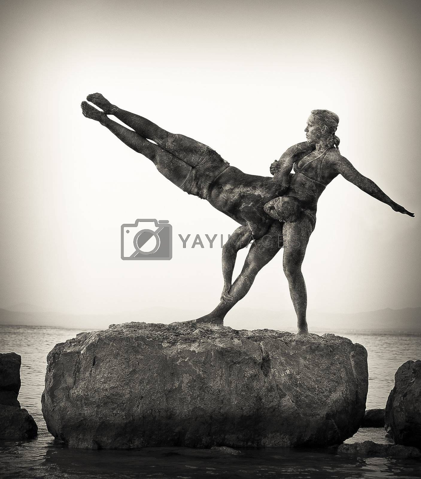 acrobatic sculpture duet by karelrod
