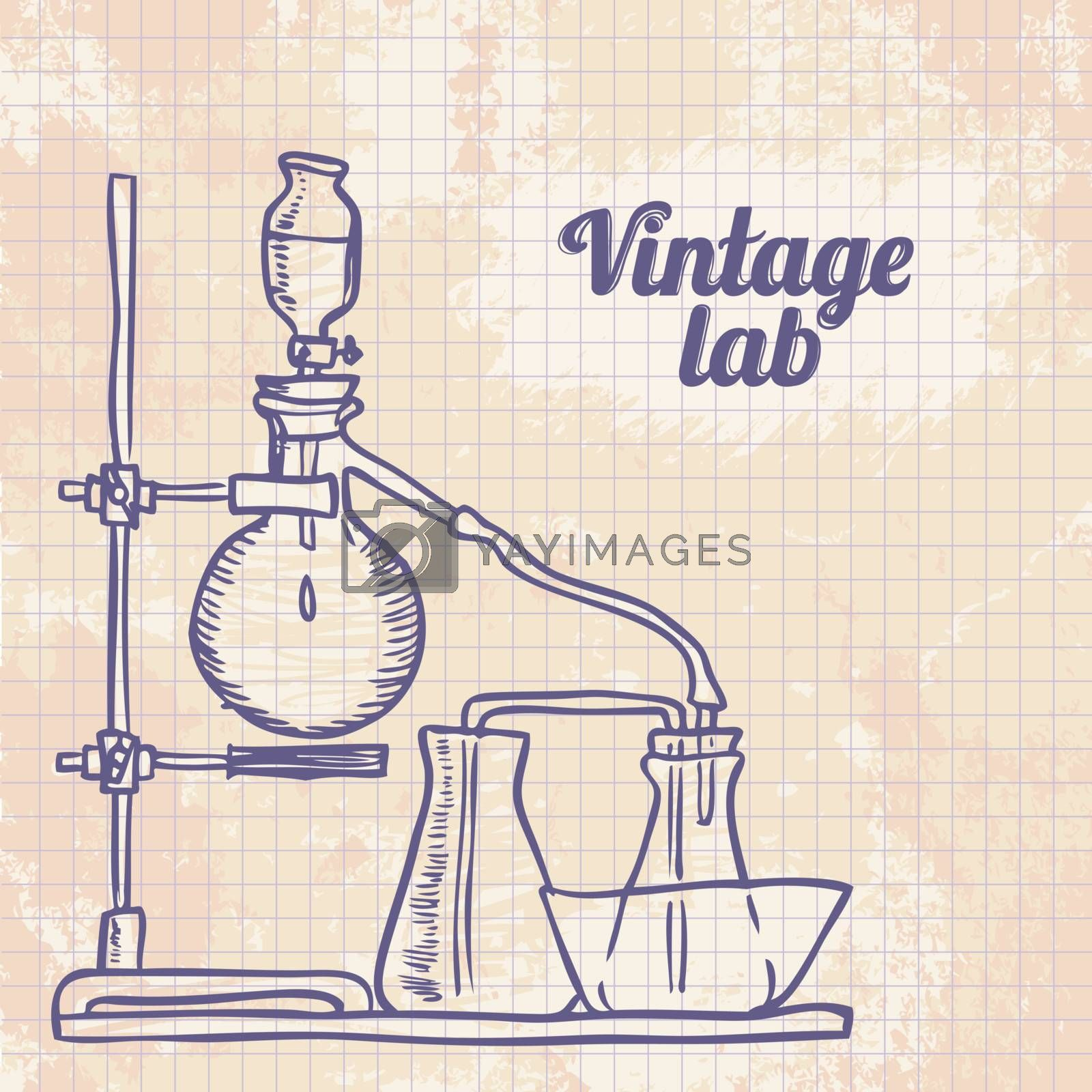 Vector graphic chemistry laboratory background