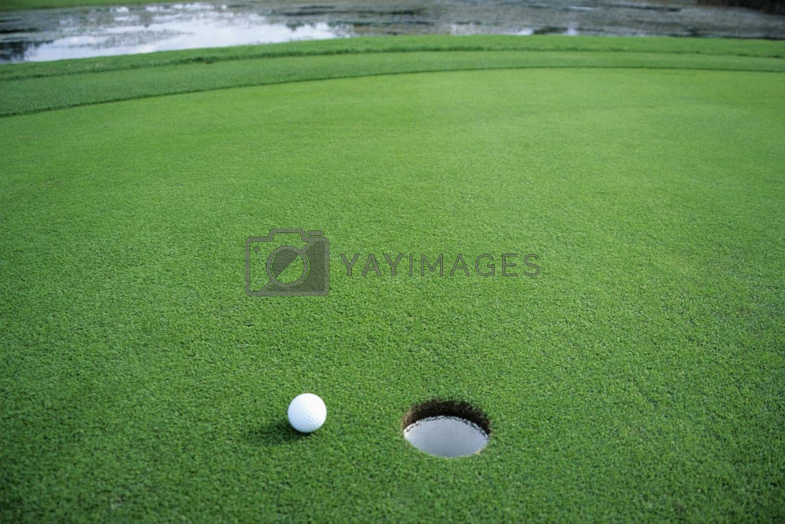 Golf ball falls just short of it's goal