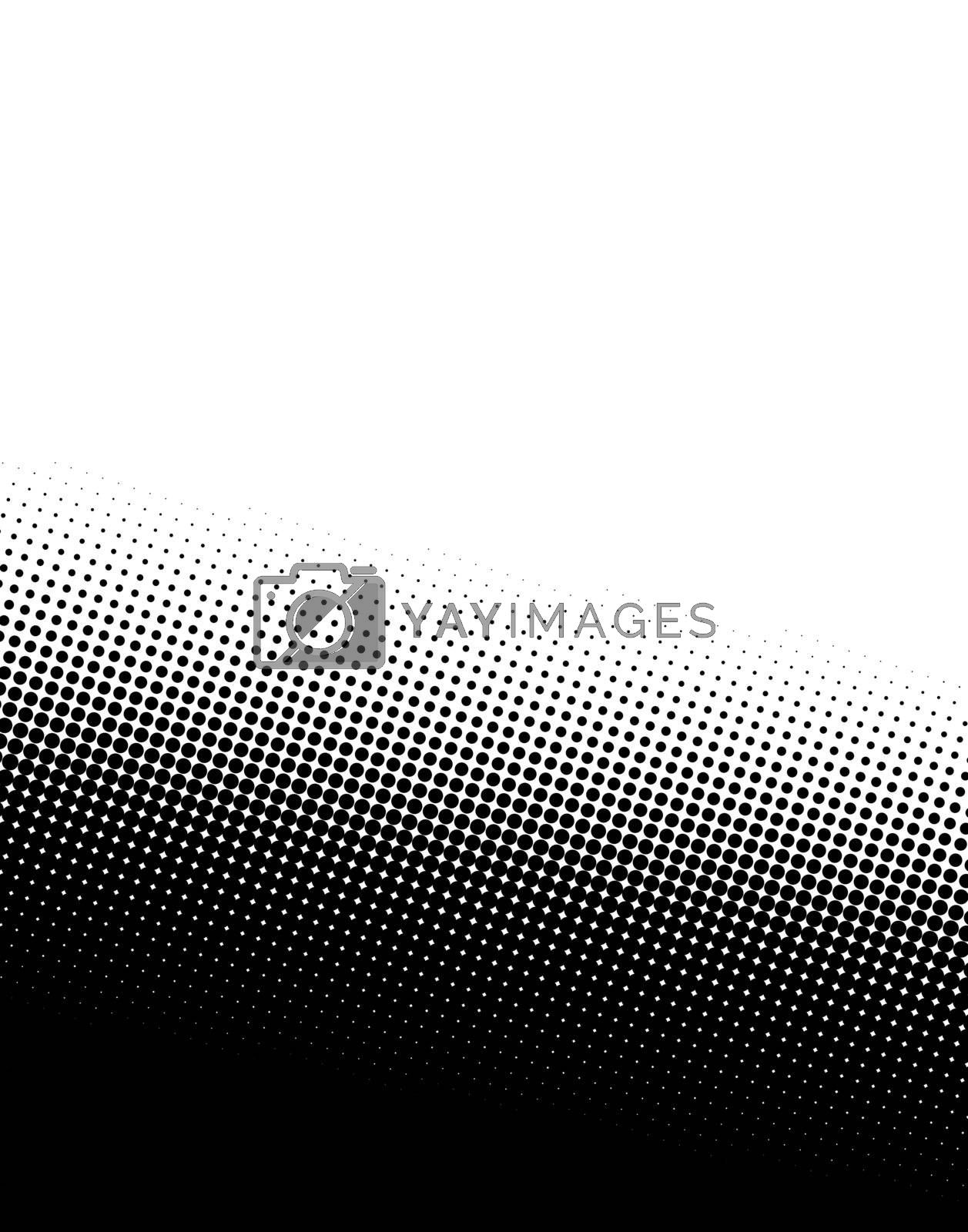 A black and white halftone background - plenty of copy space.