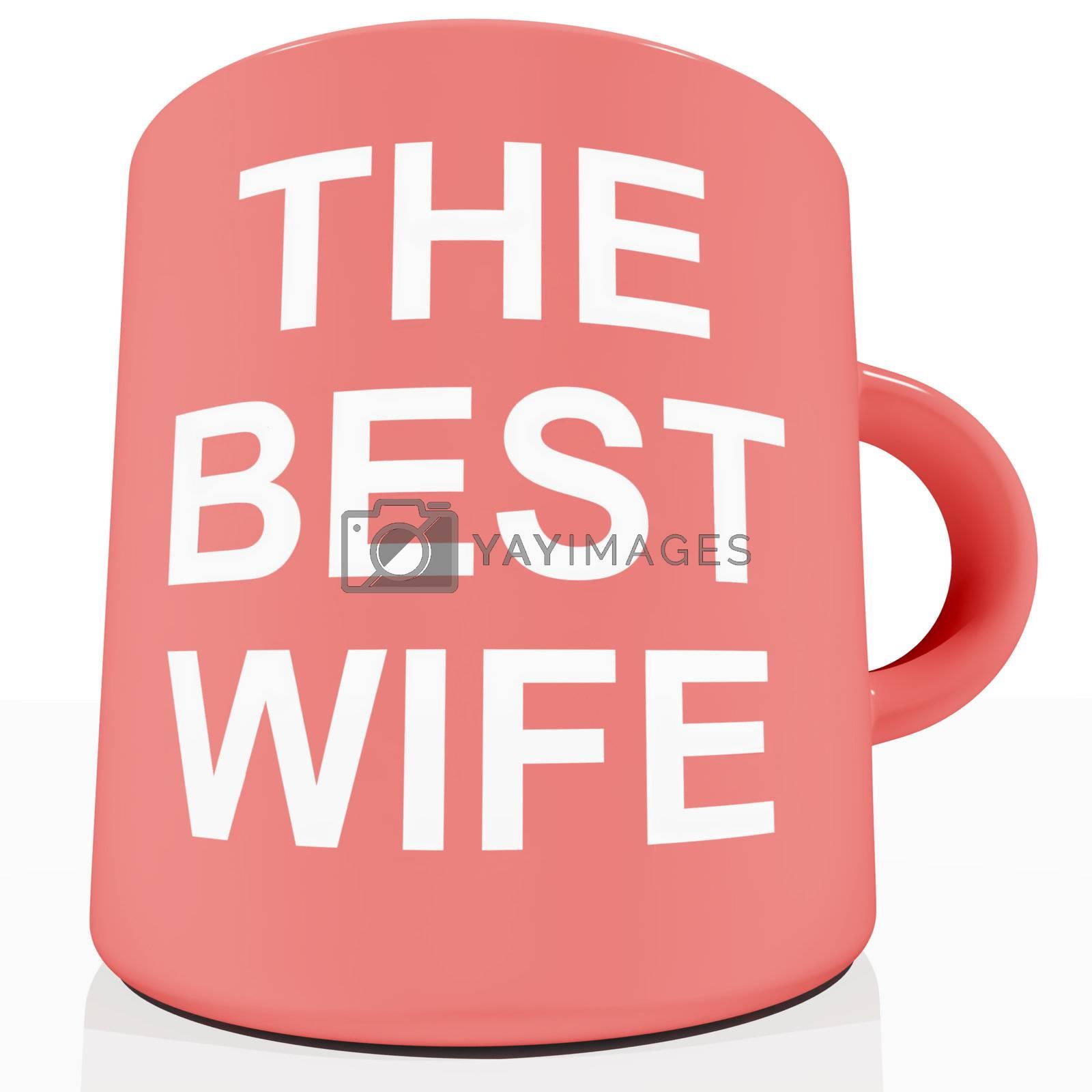 The Best Wife Mug Showing Loving Partener