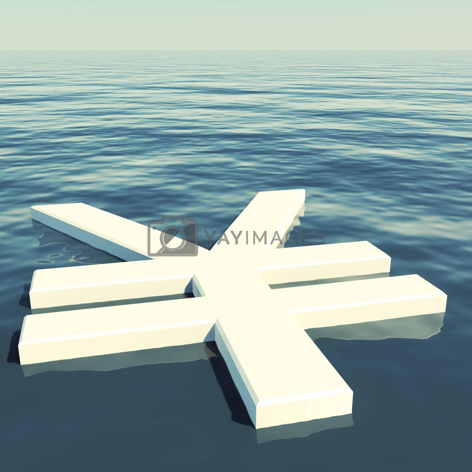 Yen Floating Showing Money Wealth Or Earning