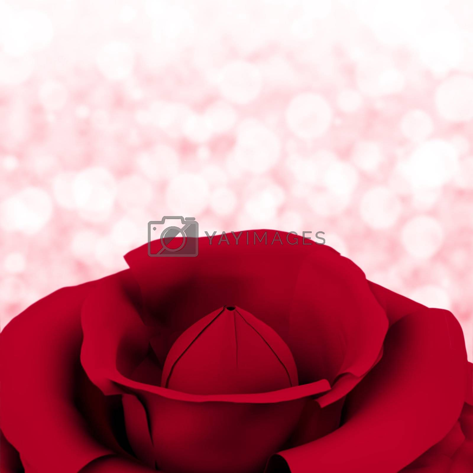 Rose With Bokeh Background For Womens Birthday Or Valentine