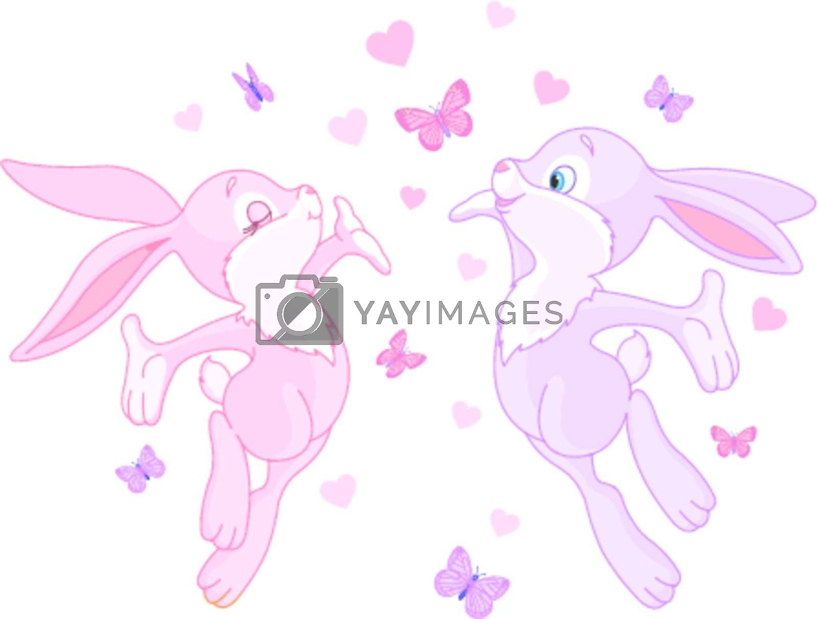 Valentine bunnies in Love, are In The Air