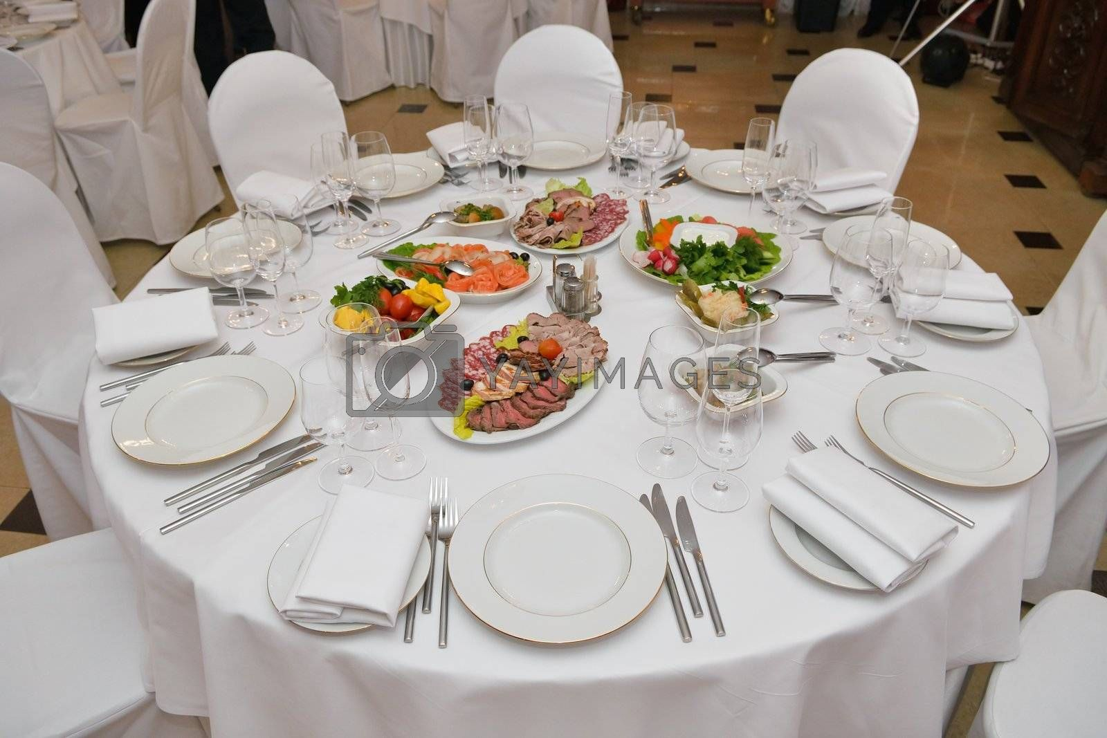Royalty free image of Served table by grauvision