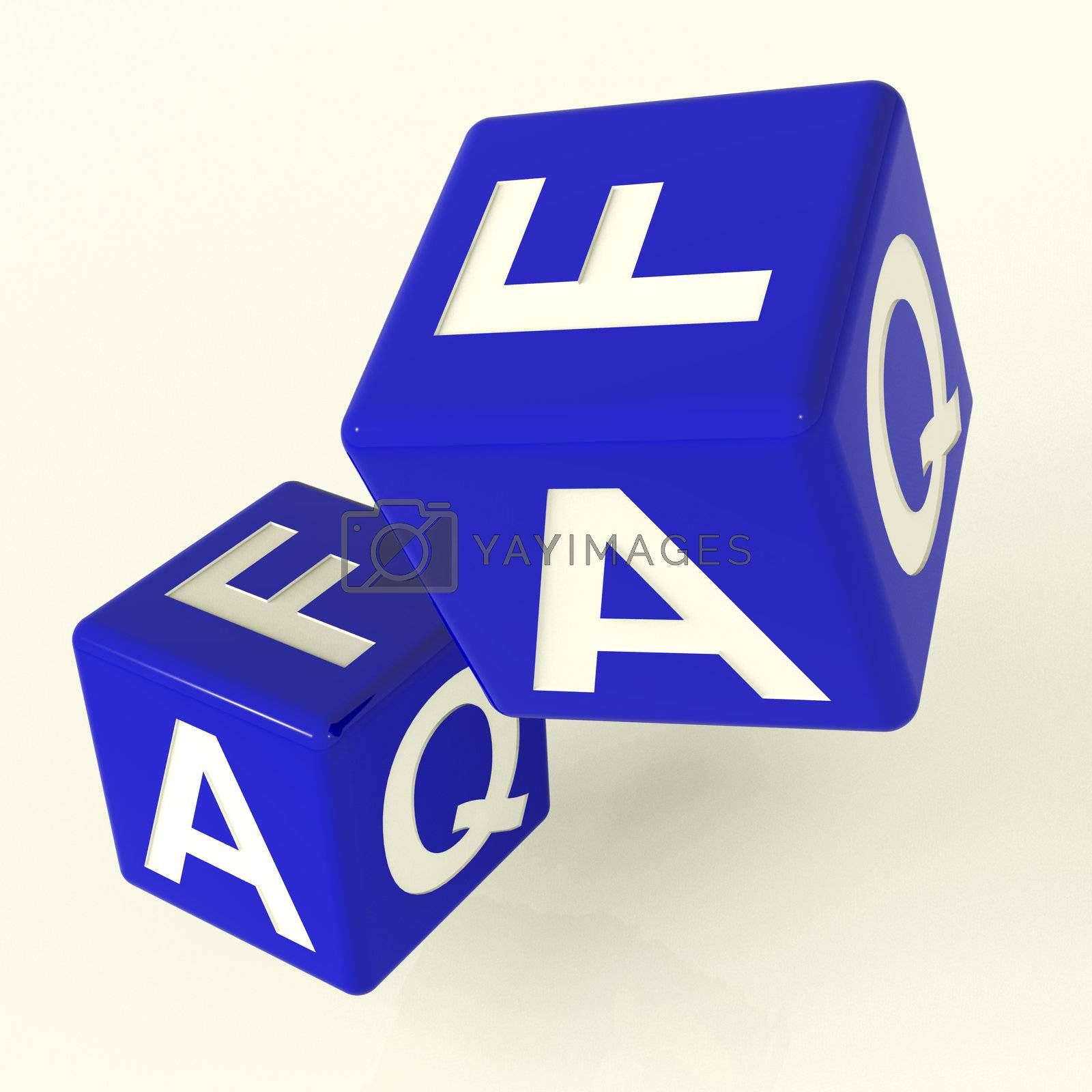 Faq Blue Dice As Symbol For Information Or Answers