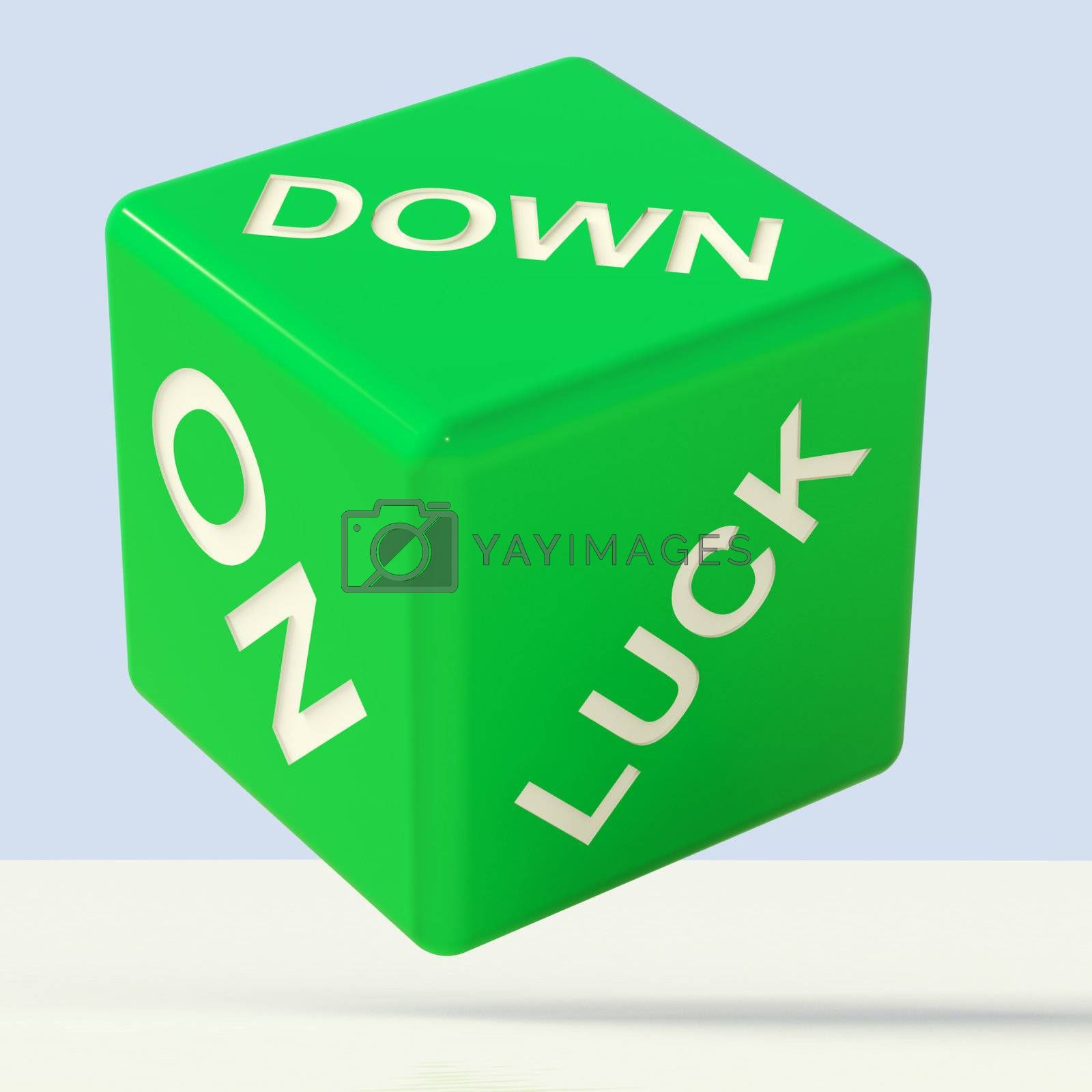 Down On Luck Green Dice Meaning Failure And Losing