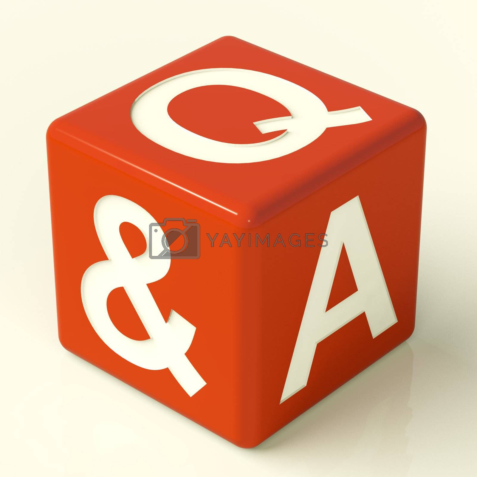 Question and Answer Red Dice As Symbol For Support