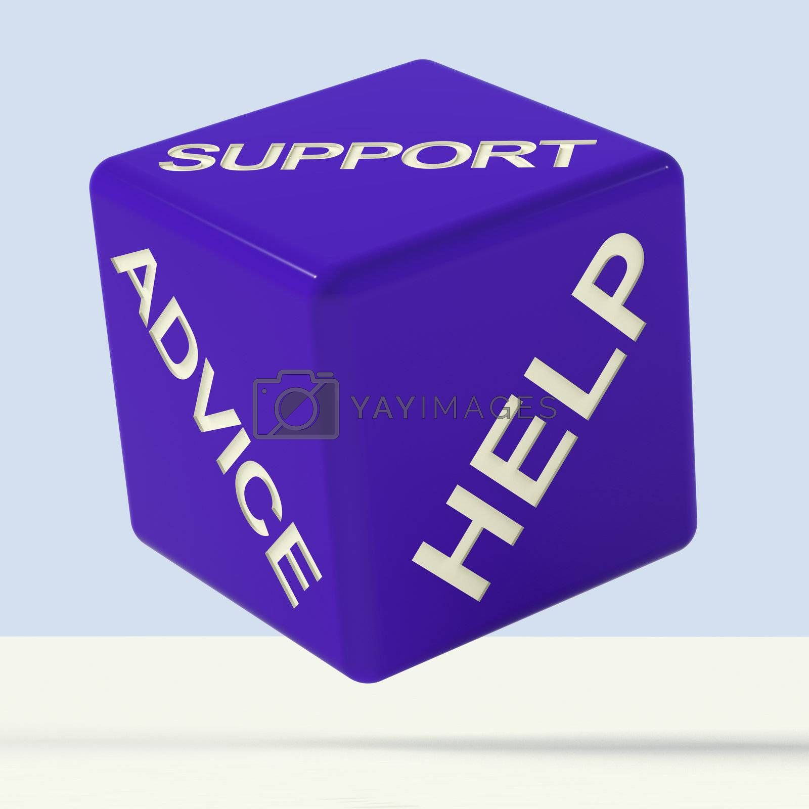 Support Advice Help Blue Dice Representing Questions And Answers