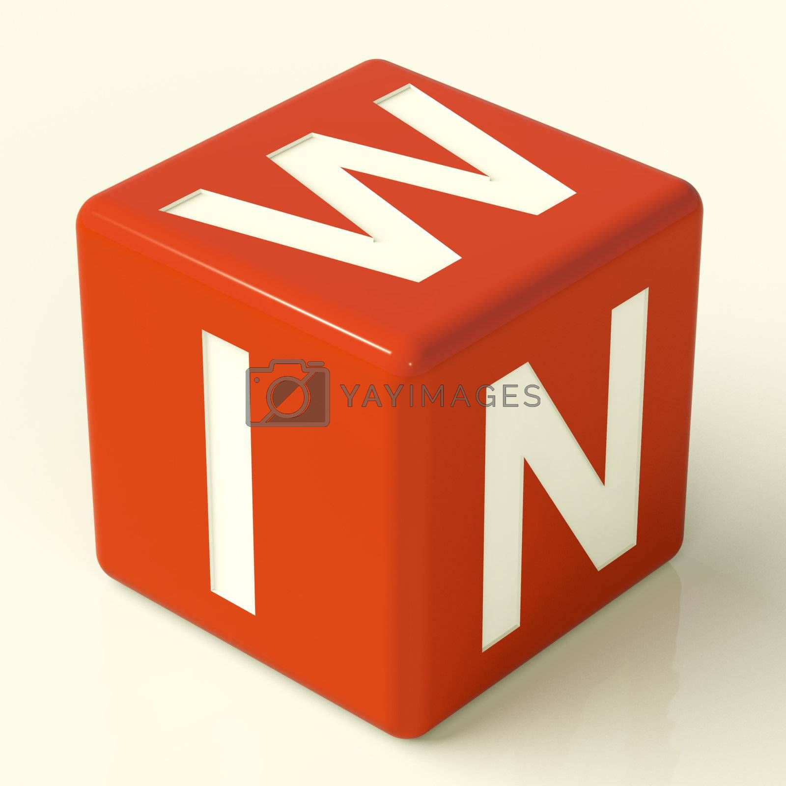 Win Red Dice Representing Triumph And Victory