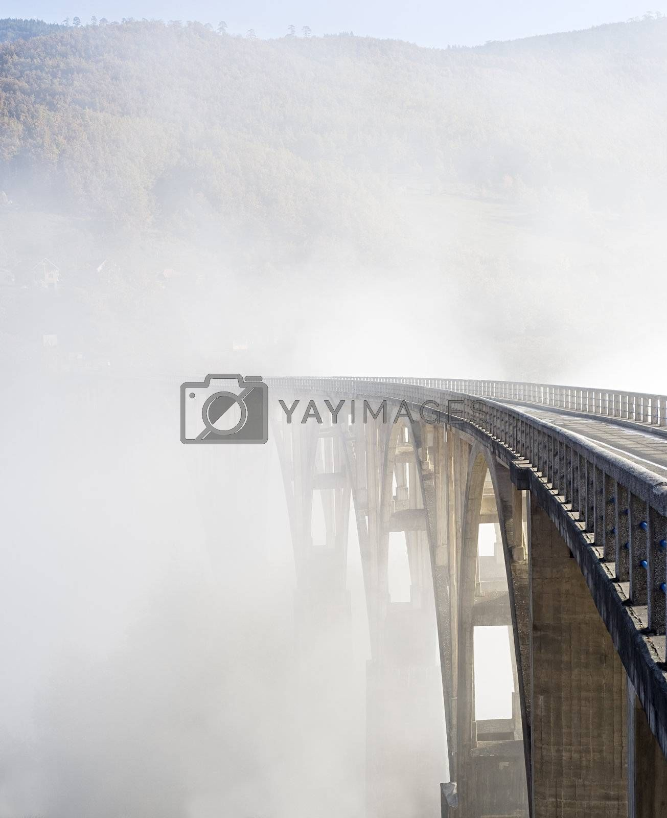 Djurdjevica Tara Bridge is a concrete arch bridge over the Tara River in northern Montenegro. It was built between 1937 and 1940, it's 365m long and the roadway stands 172 metres above the river.