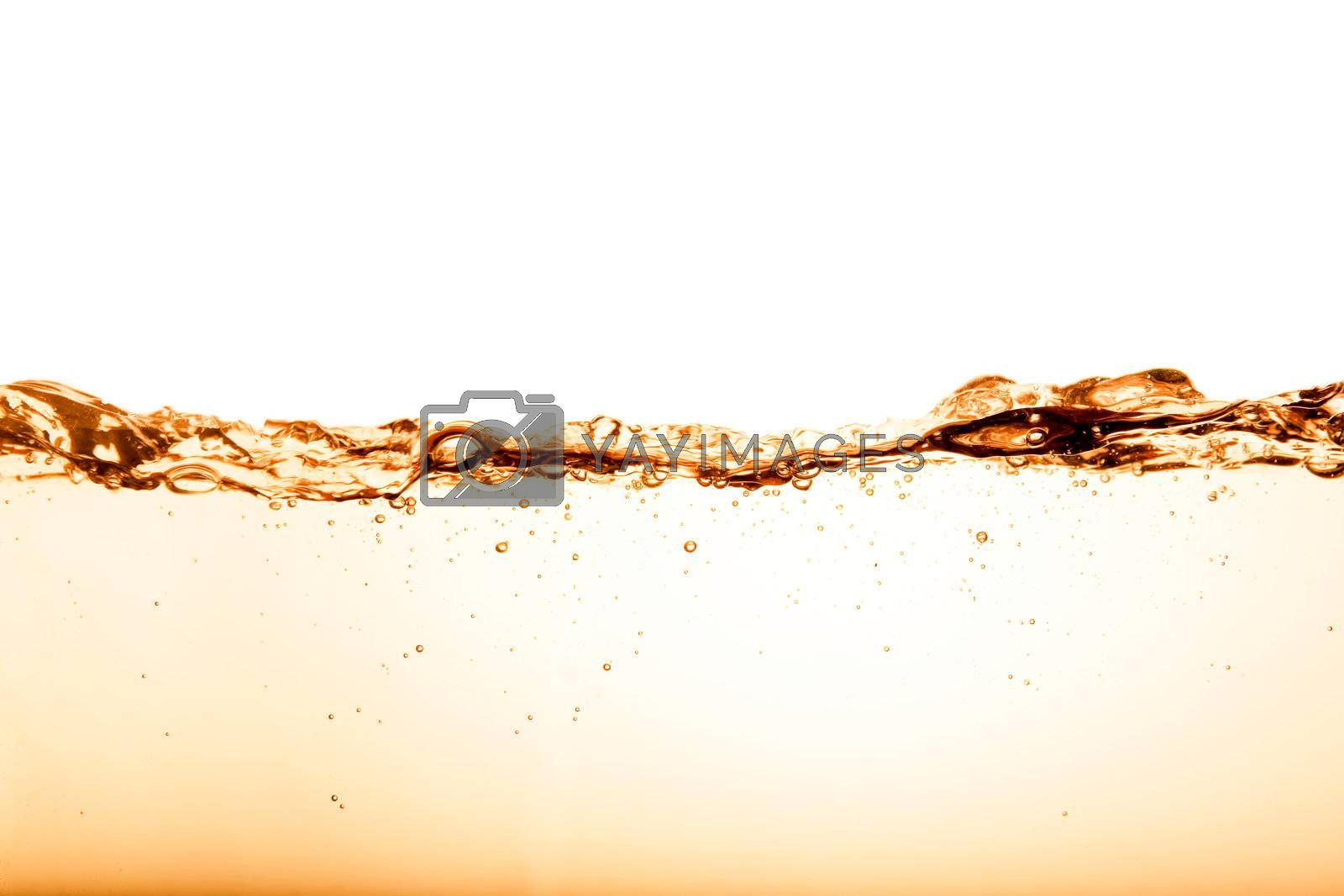 A orange / brown water texture background abstract