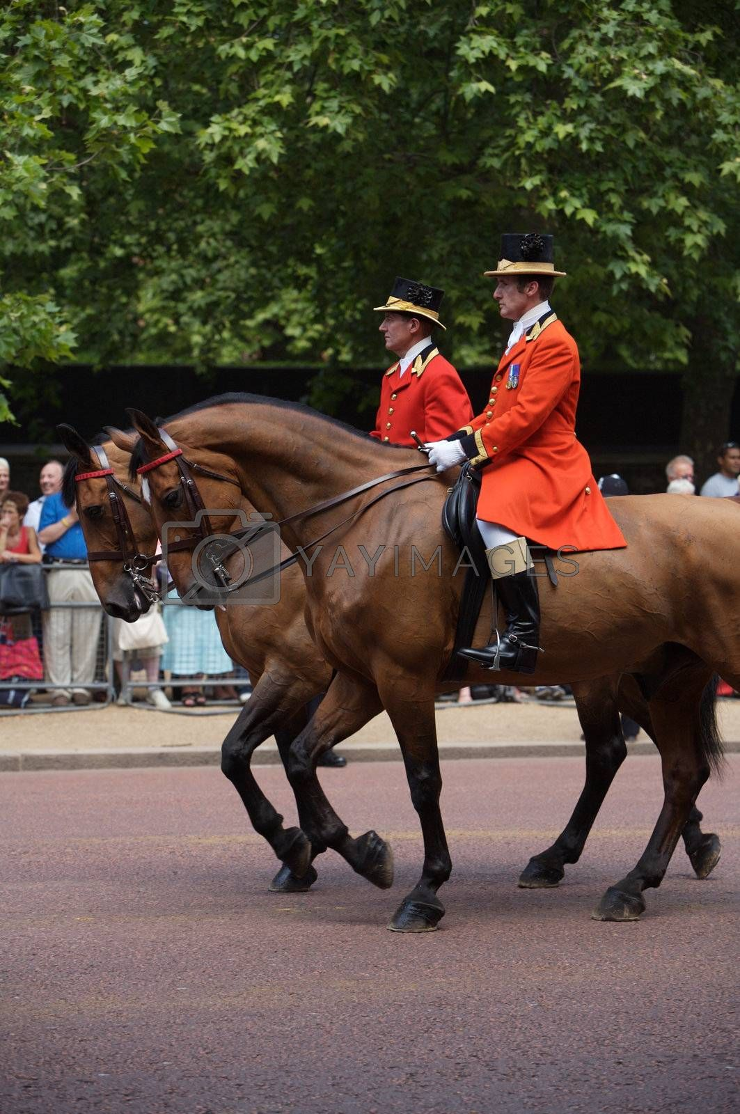 Trooping of the Colors for the Queen's Birthday in London, one of London's most popular annual royal events