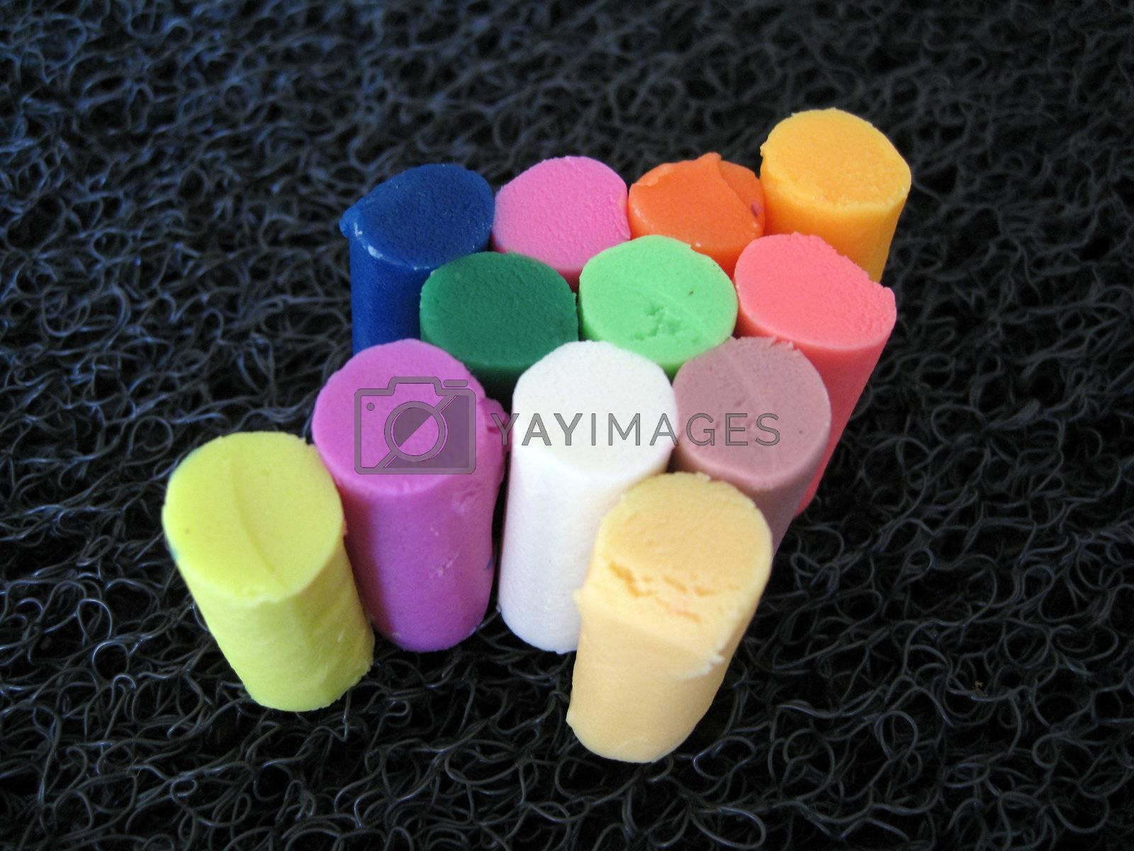 arrow : colorful of soft clay bar