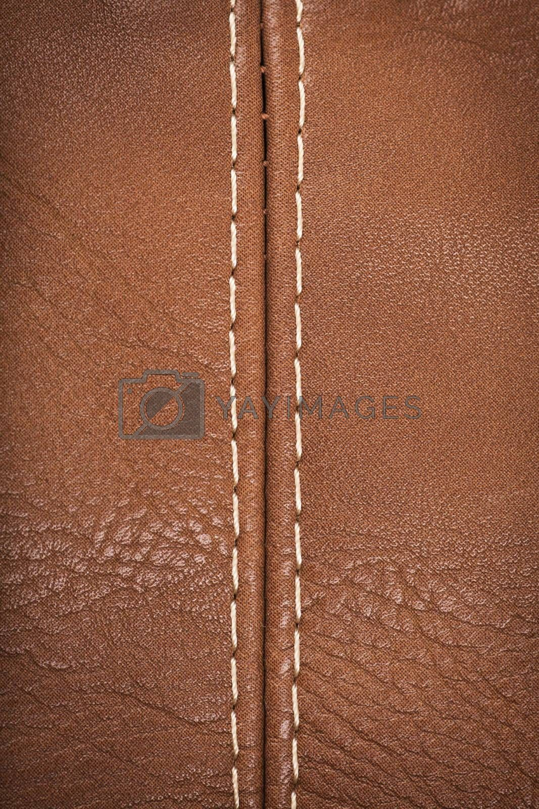 Royalty free image of Seam on a leather by AGorohov