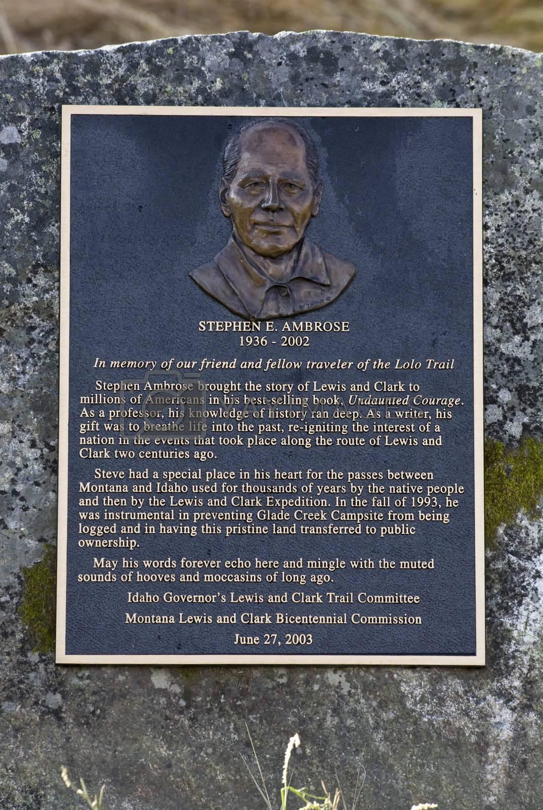 Stephen Ambrose Monument Lolo Pass Idaoh Montana