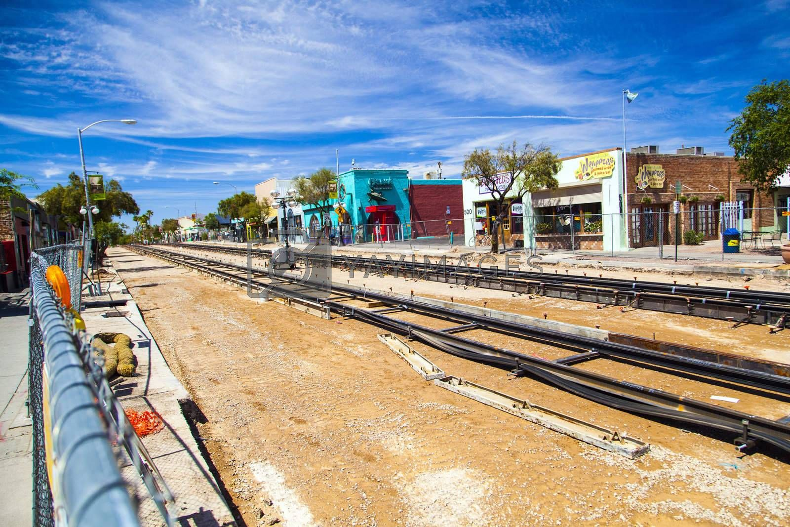 TUCSON, USA - June 12: in the old city on June 16,2012 in TUCSON, USA. Electric streetcars began operating in Tucson on June 1, 1906 and will be completely renovated until 2014.