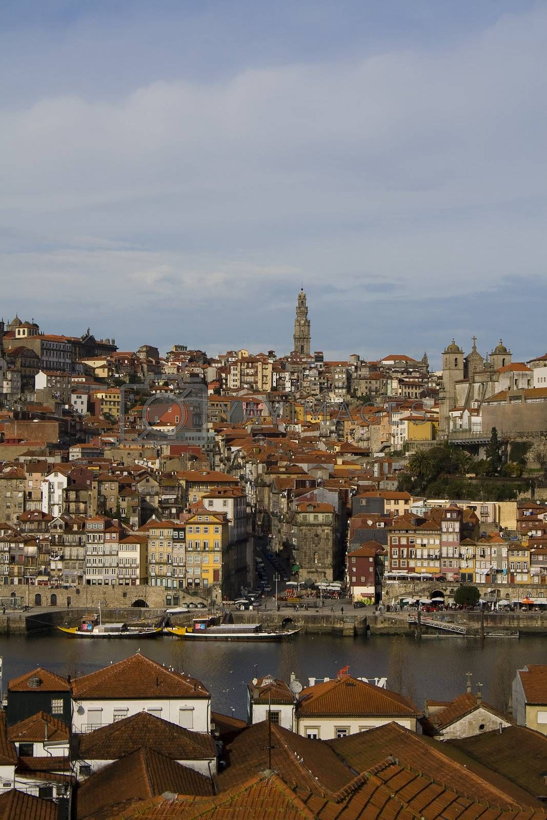 View from Oporto city in Portugal