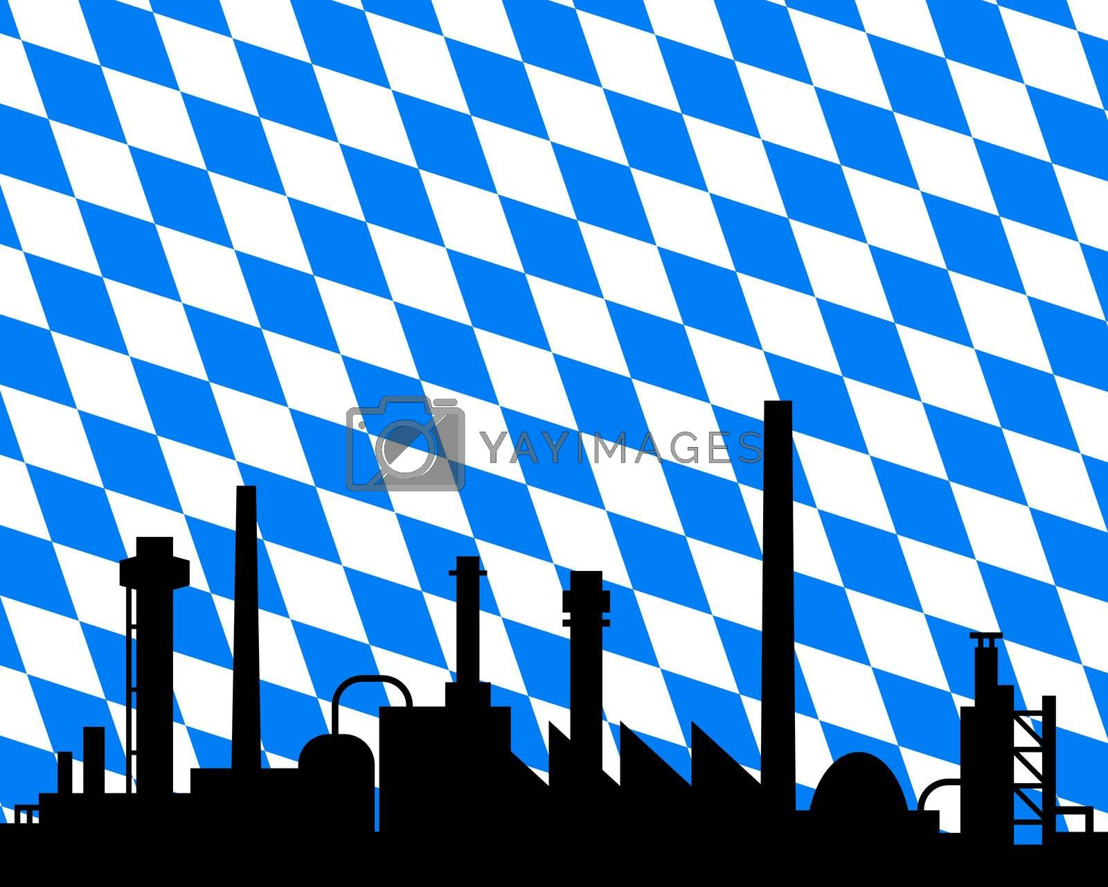 Industry and flag of Bavaria