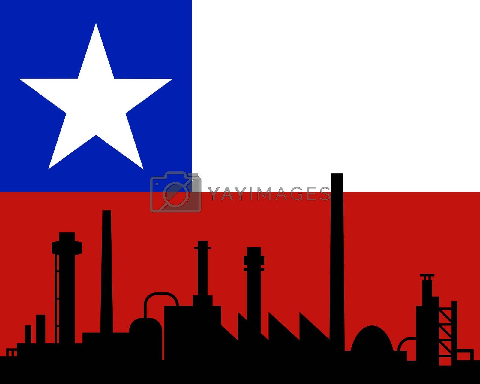 Industry and flag of Chile