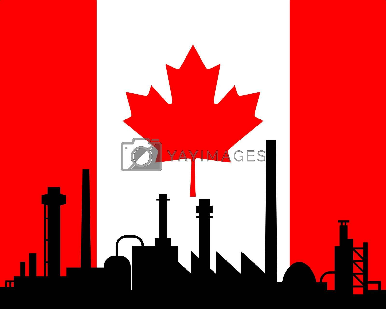 Industry and flag of Canada