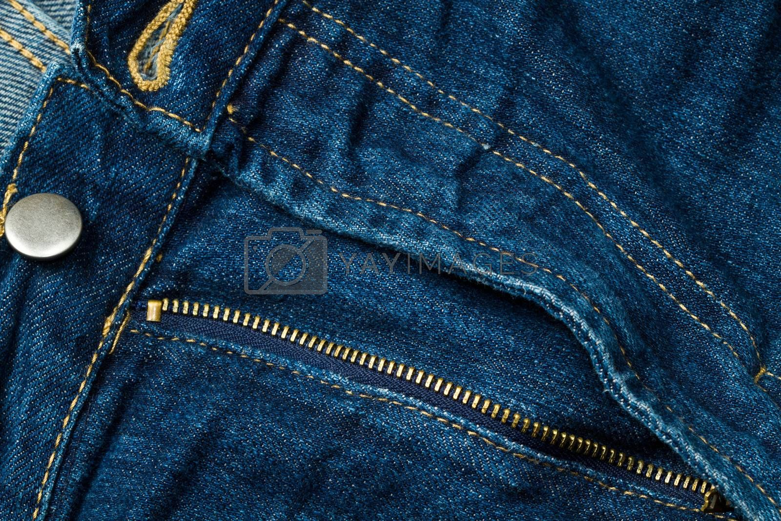 hinge blue denim jeans