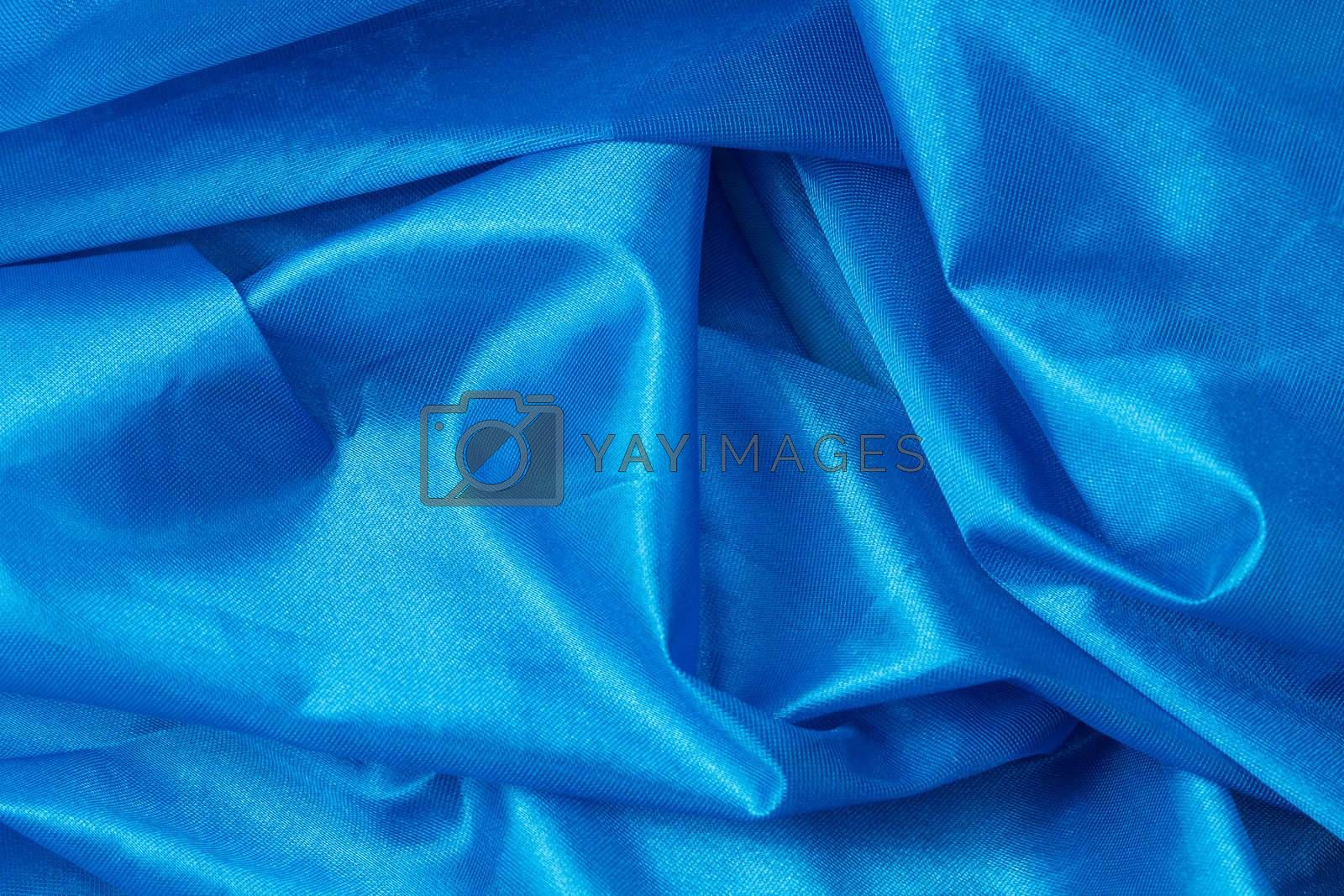 blue silk fabric background