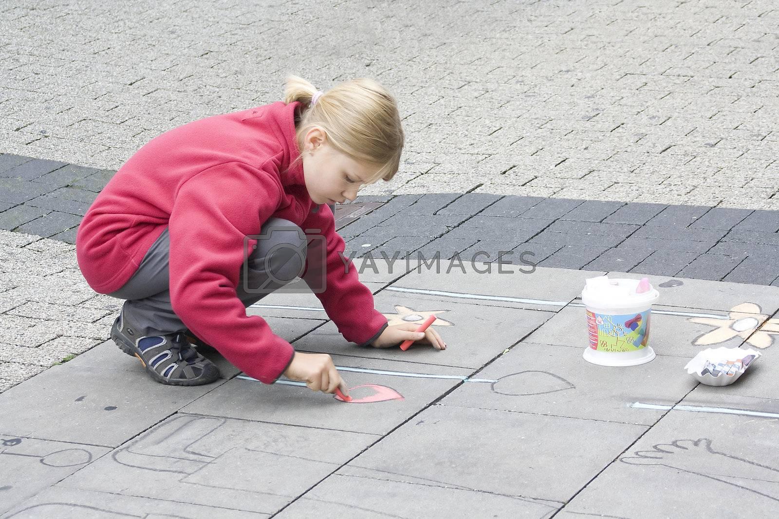 street painting in Geldern, Germany, 28th August, 2010