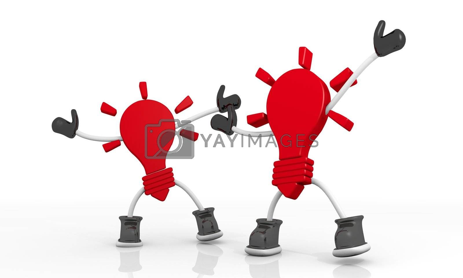 3D graphic Candy red character idea  symbol in a stylish background