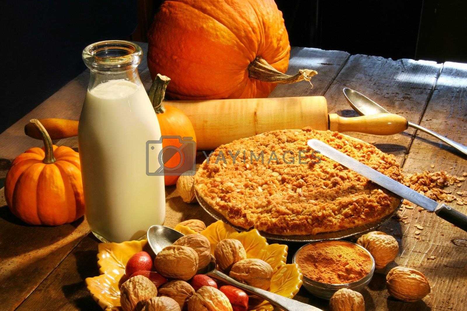 Preparing ingredients for holiday desserts