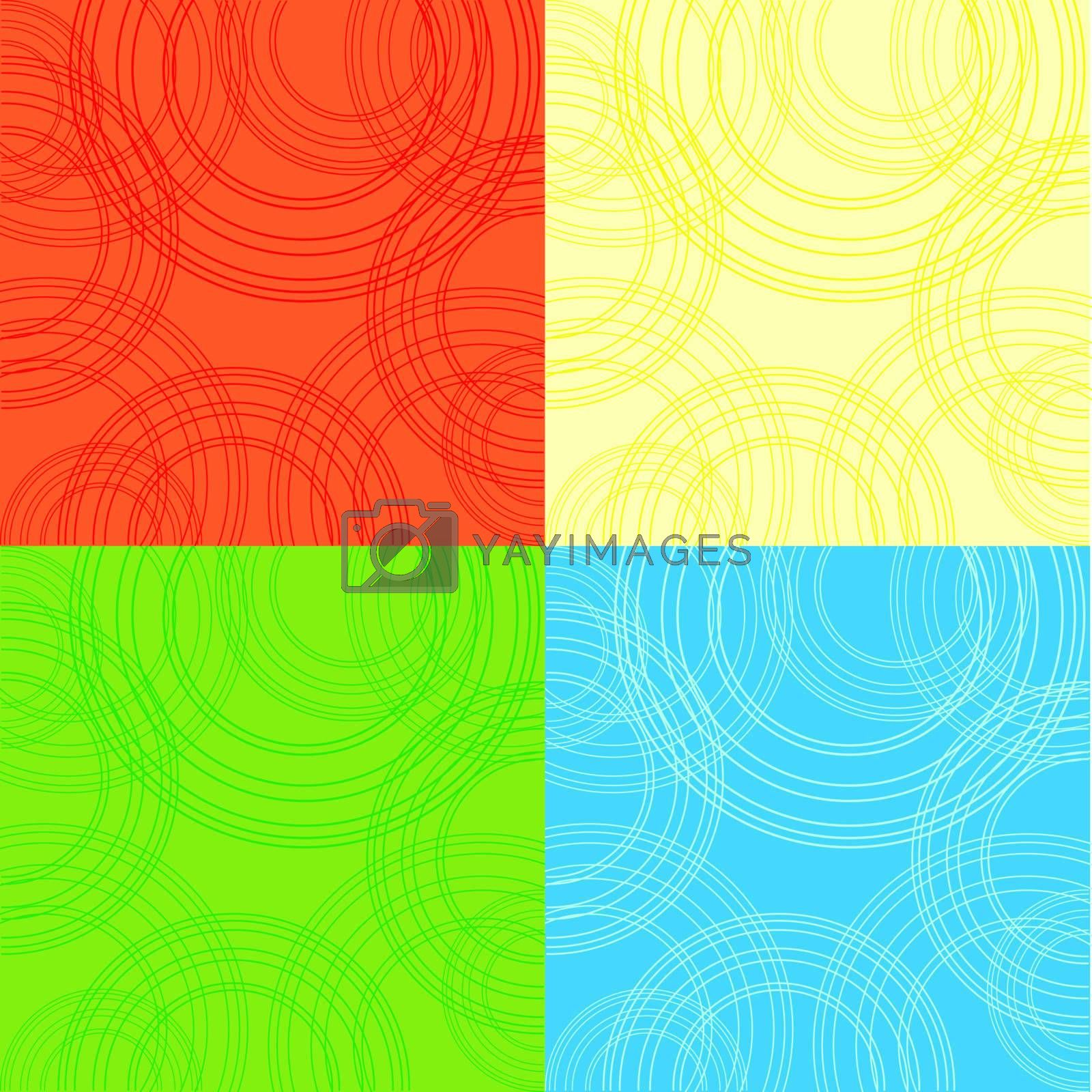 4  backgrounds with circles by catrinel