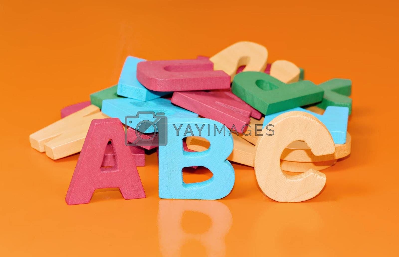 alphabet letters in wood