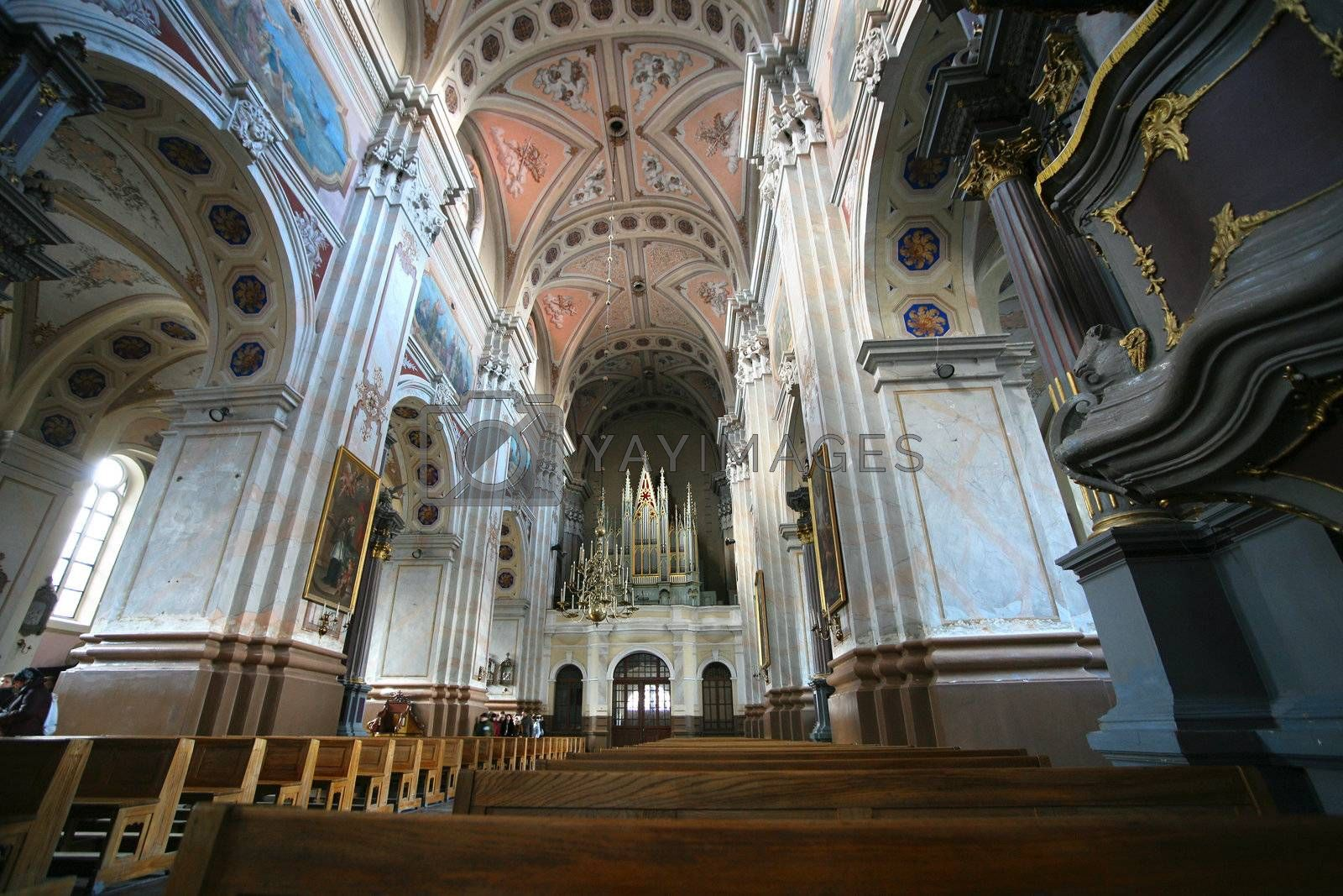 View inside the Cathedral. Kaunas