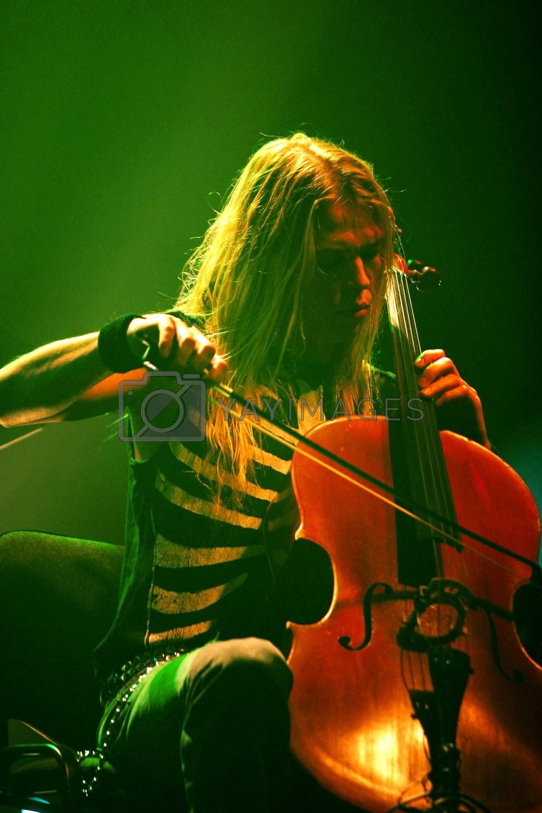 """Concert of cult Finnish group """"Apocalyptica"""" Eicca Toppinen"""