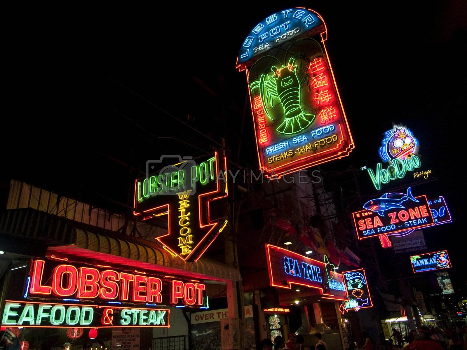 Neon seafood by epixx