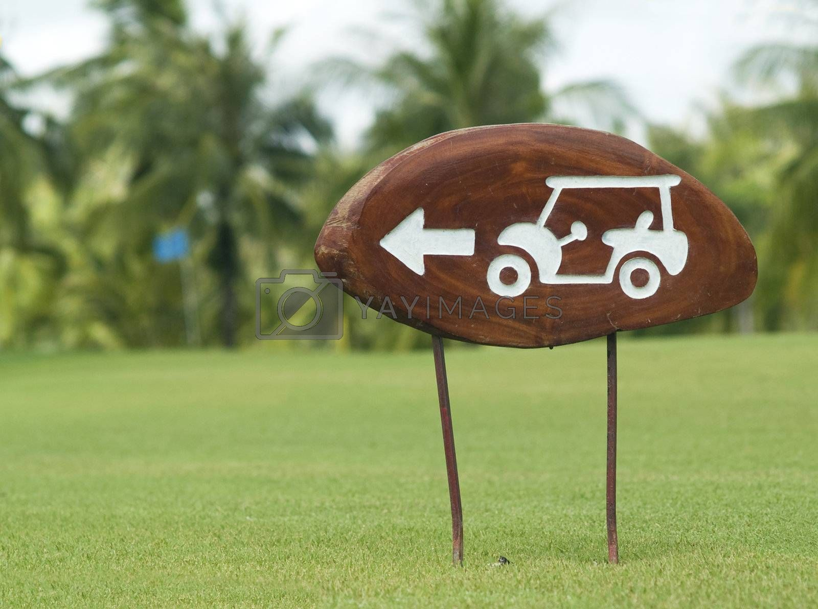 Sign on a golf course by epixx