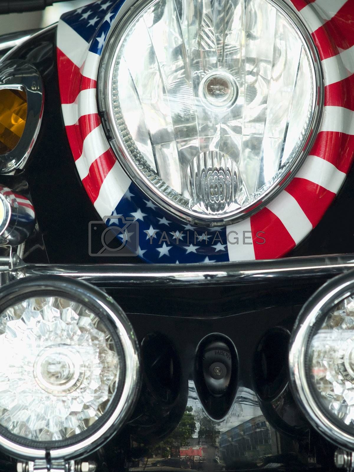 Scooter with American flag by epixx