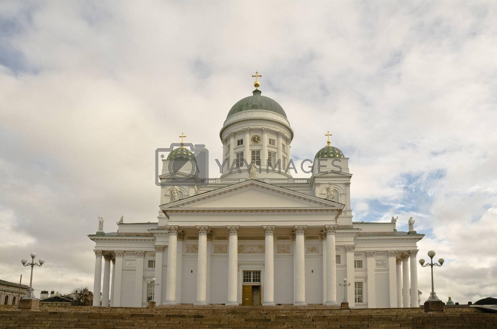 Lutheran Cathedral on the Senatorial area. Helsinki.