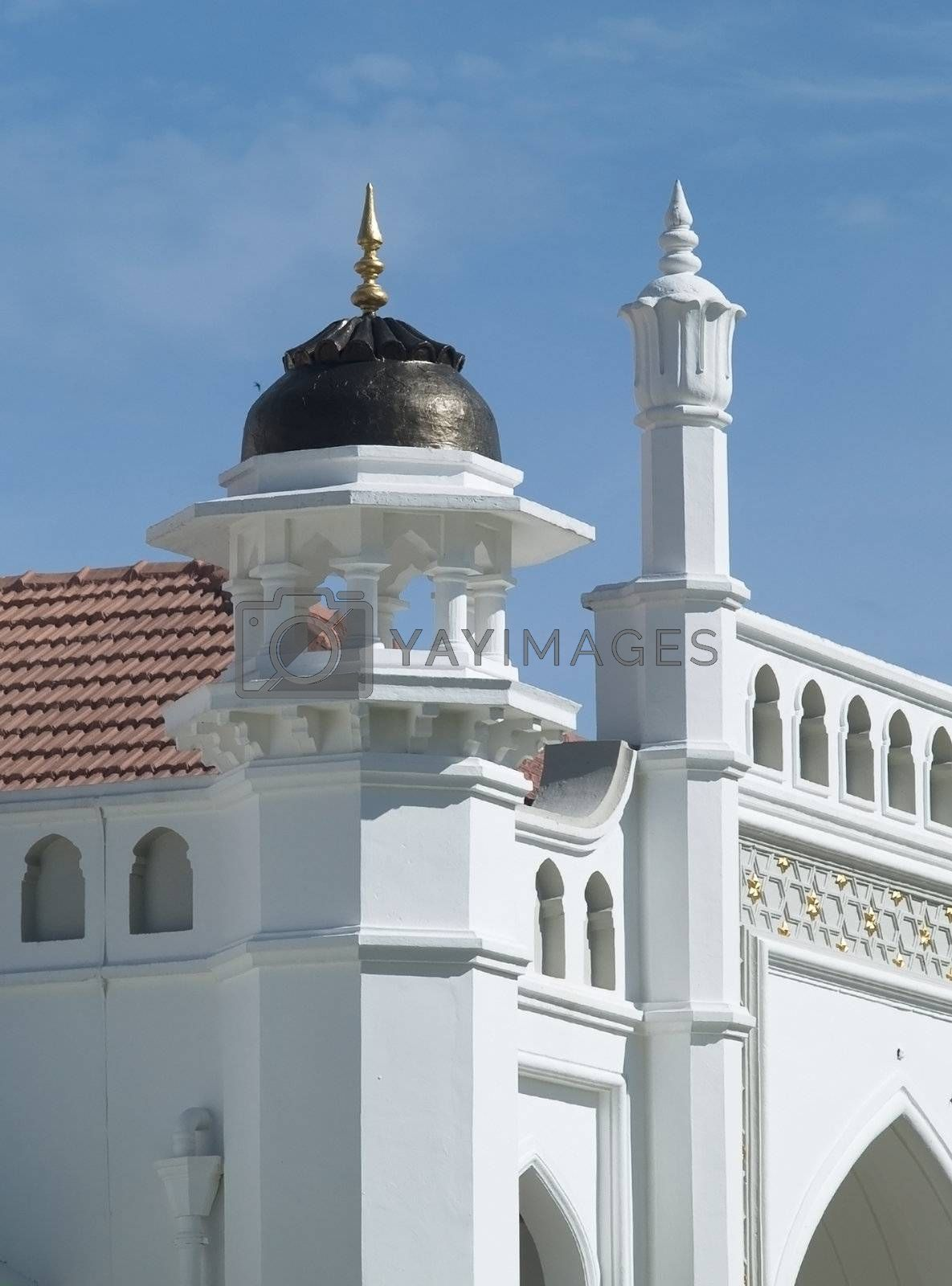Detail of the Kapitan Keling Mosque by epixx