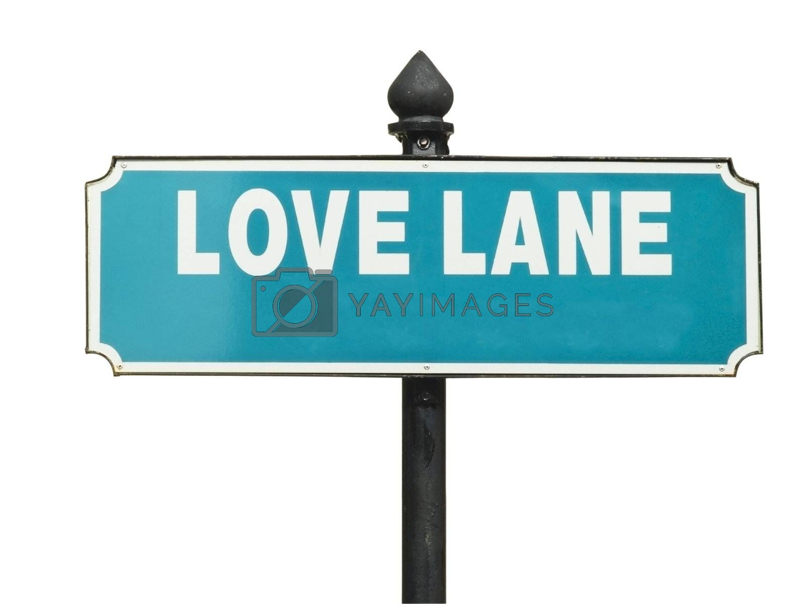 Street sign, Love Lane by epixx