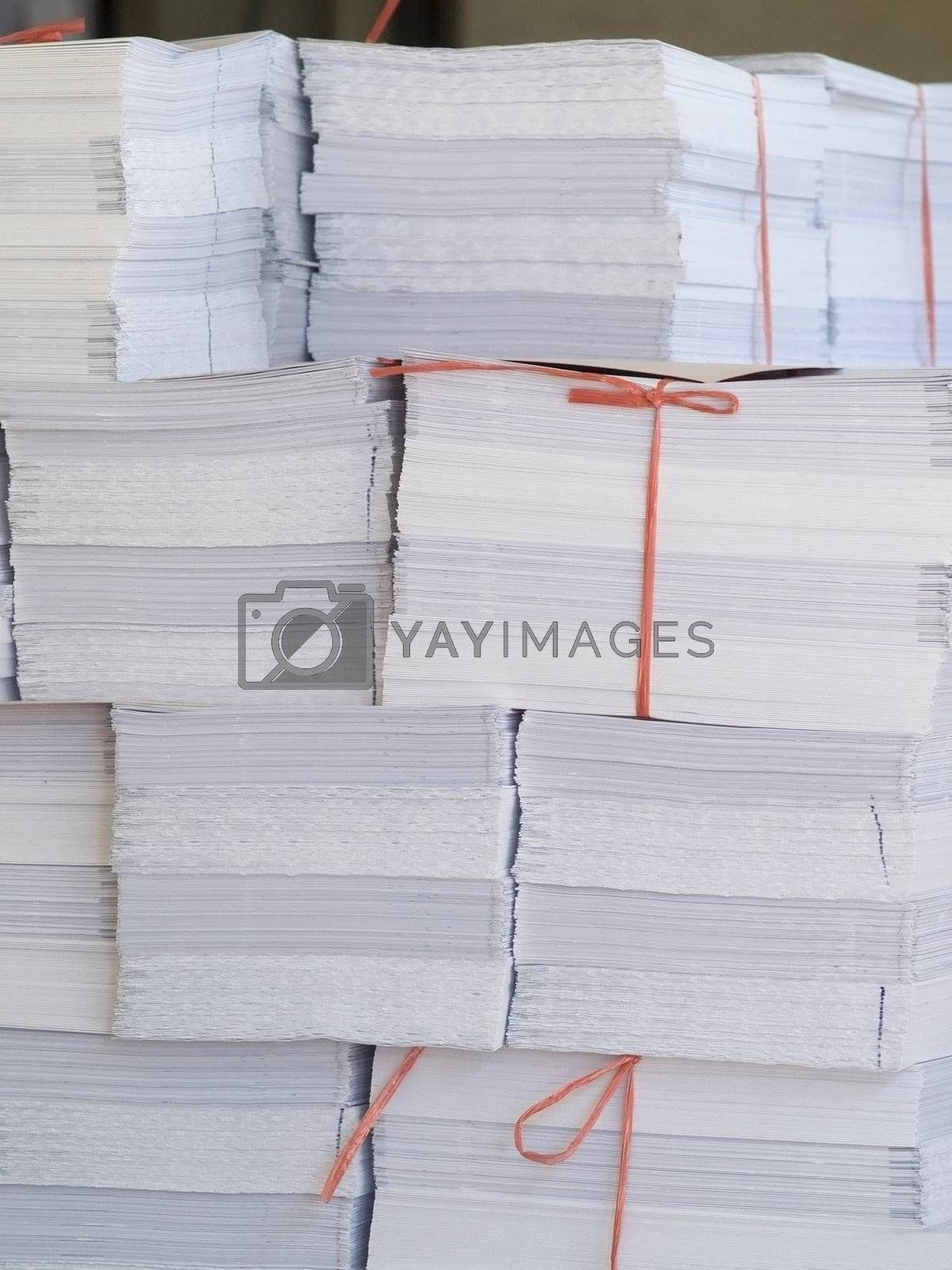 Piles of paper by epixx