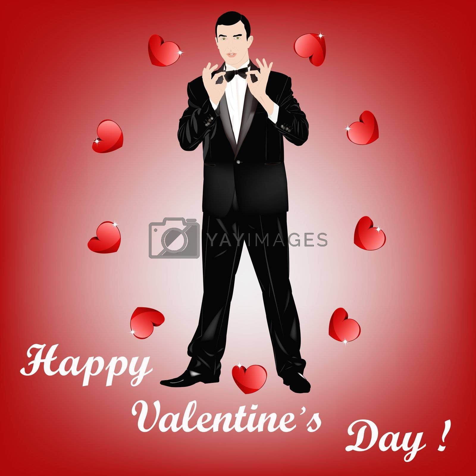 The Valentine's day gives happiness and love and a soul youth