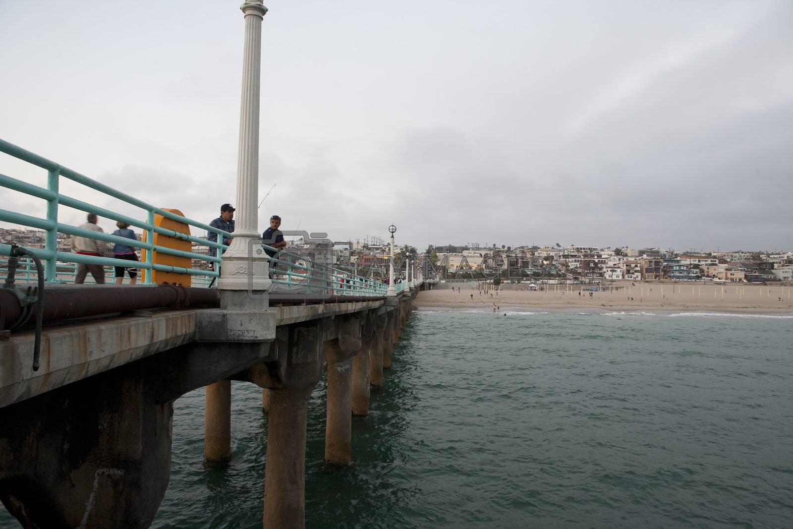 View of Manhattan Beach, LA, CA.