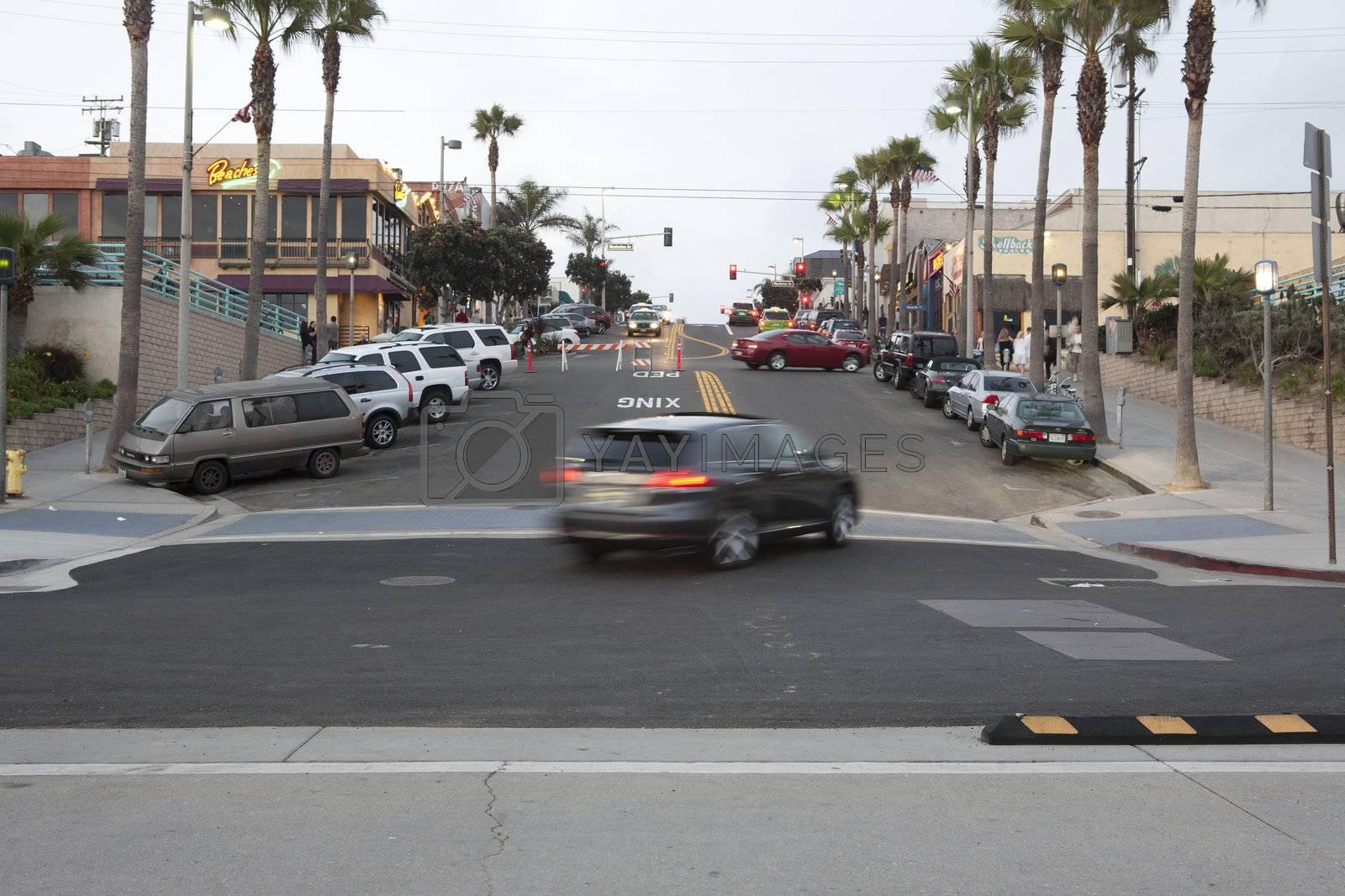 Street life in Manhattan beach, Los Angeles, CA