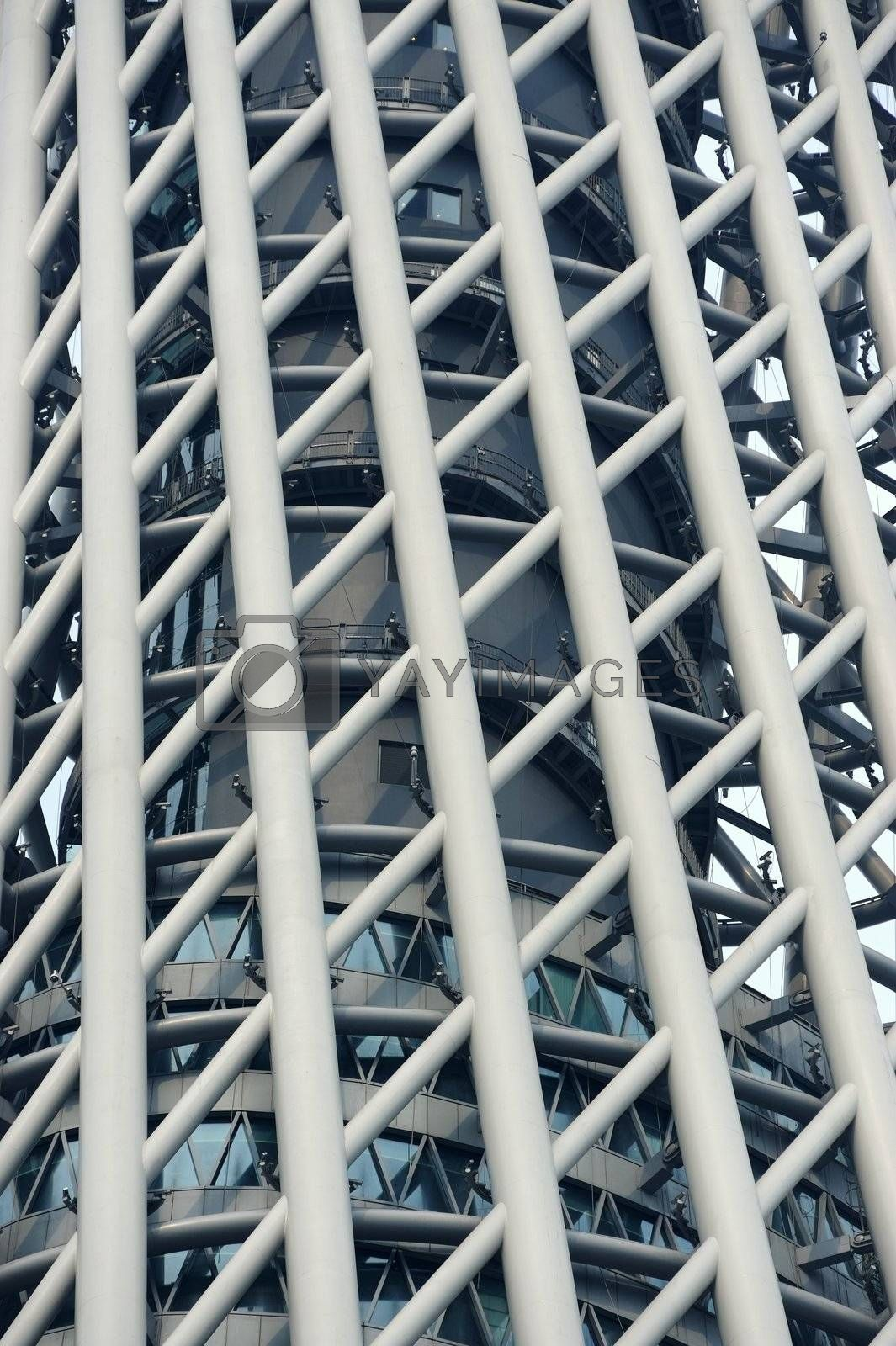 Modern architecture close up view