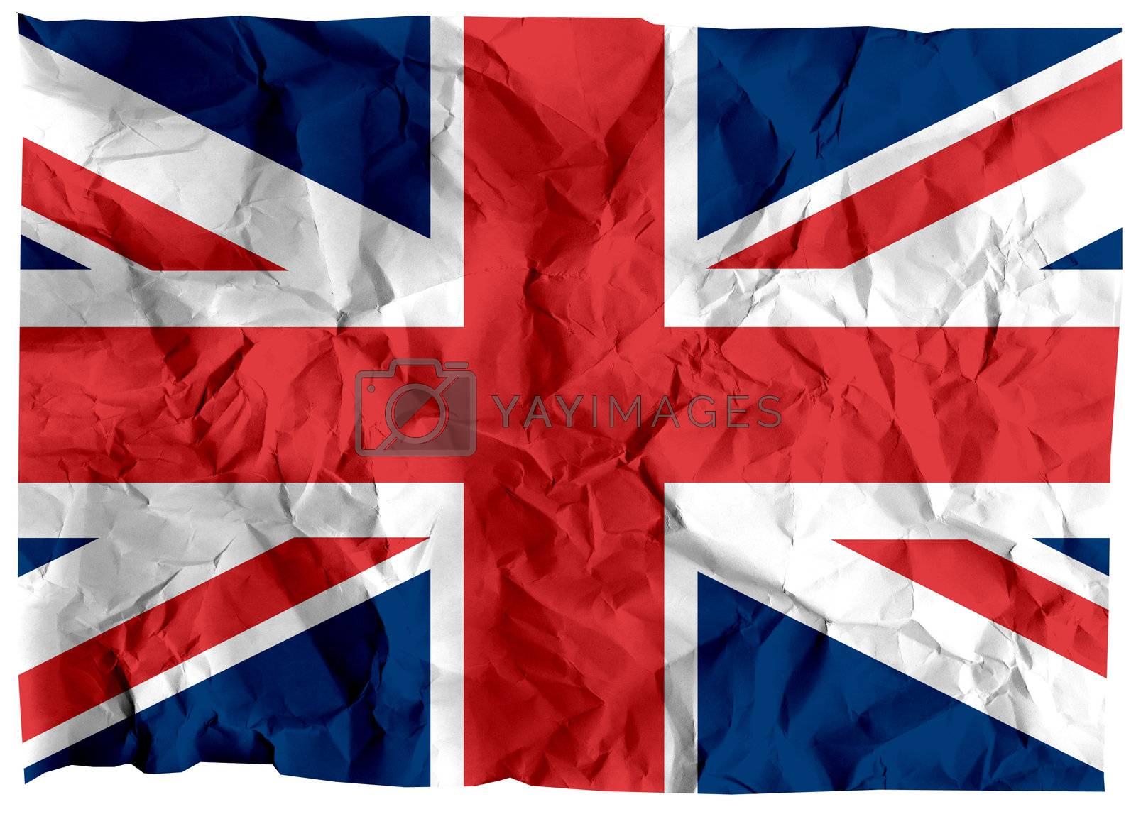 The national flag of United Kingdom (Europe).