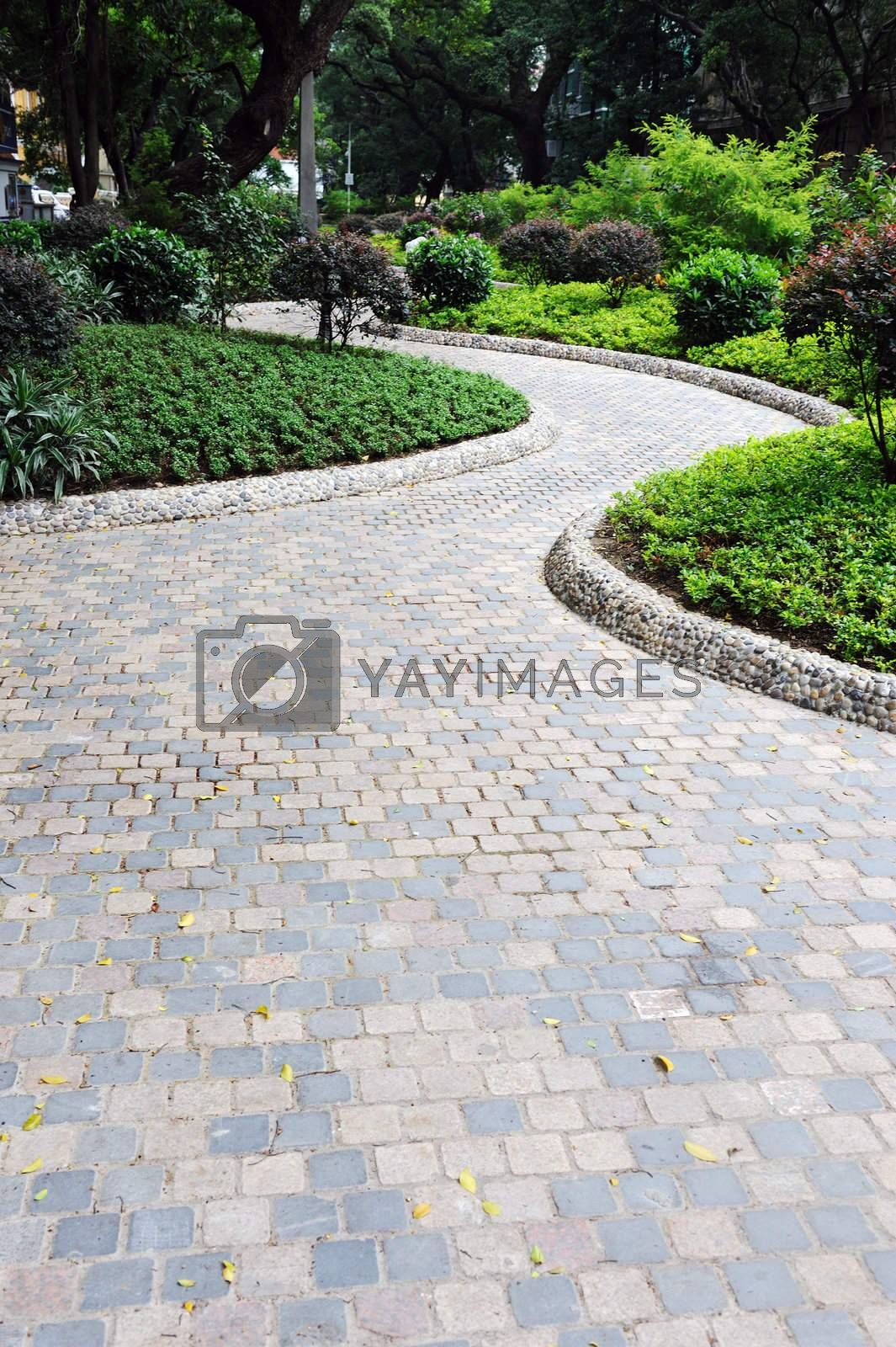 Road in garden by raywoo